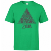 Nintendo Zelda Triforce Mens Green T-Shirt - XL