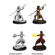D&D Nolzur's Marvelous Miniatures - Female Half-Elf Monk (6 Units)