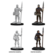 WizKids Deep Cuts Unpainted Miniatures - Guards (6 Units)