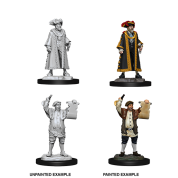 WizKids Deep Cuts Unpainted Miniatures - Mayor & Town Crier (6 Units)