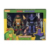 Teenage Mutant Ninja Turtles – Cartoon Raphael vs Foot Soldier 2 Pack Action Figures 18cm