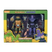 Teenage Mutant Ninja Turtles – Cartoon Michelangelo vs Foot Soldier 2 Pack Action Figures 18cm