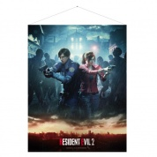 Resident Evil 2 Wallscroll Leon & Claire