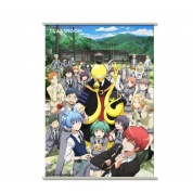 Assassination Classroom Wallscroll - Koro with Chocolate Bar and Students