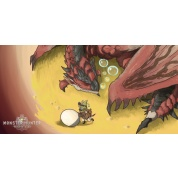 Monster Hunter World Towel - Rathalos and Palico Egg Quest 70x35cm