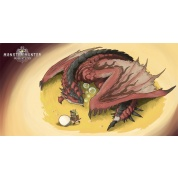 Monster Hunter World XL Towel - Rathalos and Palico Egg Quest 150x75cm