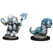 WizKids Wardlings Painted Miniatures: Ice Orc & Ice Worm (6 Units)