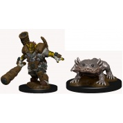 WizKids Wardlings Painted Miniatures: Mud Orc & Mud Puppy (6 Units)