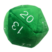 UP - Dice - Jumbo D20 Novelty Dice Plush in Green with White Numbering