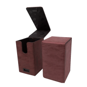 UP - Alcove Tower Suede Collection Deck Box - Ruby