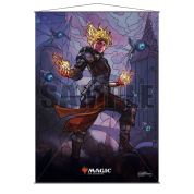 UP - Stained Glass Wall Scroll Magic: The Gathering - Chandra