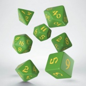 Classic Runic Green & yellow Dice Set (7)