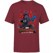 Spider Man Far From Home Multi Costume Men's T-Shirt - Burgundy - XL
