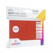 Gamegenic - Matte Prime Sleeves Red (100 Sleeves)