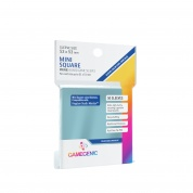 Gamegenic - PRIME Mini Square-Sized Sleeves 53 x 53 mm - Clear (50 Sleeves)