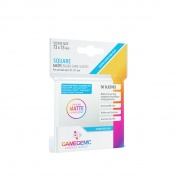 Gamegenic - MATTE Square-Sized Sleeves 73 x 73 mm - Clear (50 Sleeves)