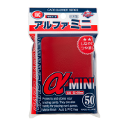 KMC Small Sleeves - Alpha Mini Red (50 Sleeves)