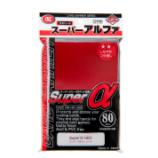 KMC Standard Sleeves - Super α (Alpha) Red (80 Sleeves)
