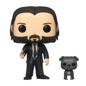 Funko POP! John Wick - John in Black Suit w/ Dog Vinyl Figures