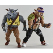 Teenage Mutant Ninja Turtles - Cartoon Series 2 Rocksteady and Bebop 2 pack Action Figures 18cm
