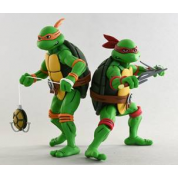 Teenage Mutant Ninja Turtles - Cartoon Series 2 Michelangelo and Raphael 2 pack Action Figures 18cm