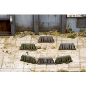 Fallout: Wasteland Warfare - Terrain Expansion: Military Barricades - EN