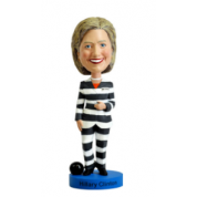 Royal Bobbles - Hillary Clinton Stripe Suit Bobblehead