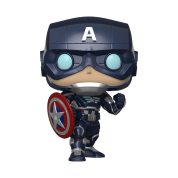 Funko POP! Avengers Game - Captain America (Stark Tech Suit) Vinyl Figure 10cm