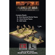 Flames Of War - Fallschirmjager 8cm/12cm Mortar Platoon (x4 each Plastic)
