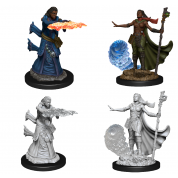 D&D Nolzur's Marvelous Miniatures - Female Human Wizard (6 Units)