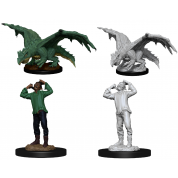 D&D Nolzur's Marvelous Miniatures - Green Dragon Wyrmling & Afflicted Elf (6 Units)