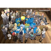 Assassination Classroom Wallscroll XL - Koro with Class 3-E