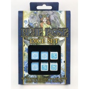 Blue Rose Dice Set