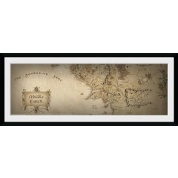 GBeye Collector Print - Lord of the Rings Map 76x30cm