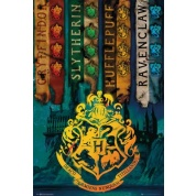 GBeye Maxi Poster - Harry Potter House Flags