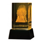 Game of Thrones: 3 D Crystal Iron Throne with Lighted Base