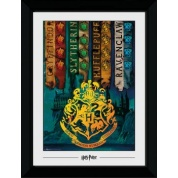 GBeye Collector Print - Harry Potter House Flags 50x70cm