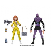 Teenage Mutant Ninja Turtles - Cartoon Series 3 April O'Neil and Foot 2-pack Action Figures 18cm