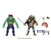 Teenage Mutant Ninja Turtles - Cartoon Series 3 Leather Head and Slash 2-pack Action Figures 18cm