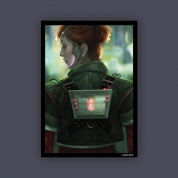 FFG - Android Netrunner - Deep Red Art Sleeves Limited Edition (50 Sleeves)