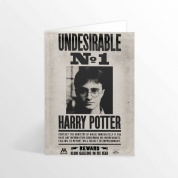 Harry Potter - Ministry Undesirable No.1 Lenticular greetings card