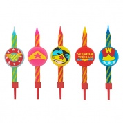 DC Comics Set of 10 Birthday style Candles Wonderwoman logo