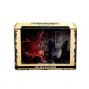 Pathfinder Battles: City of Lost Omens Premium Figure: Adult Red & Black Dragons