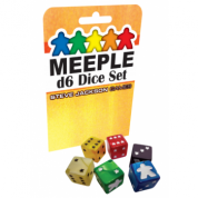 Meeple D6 Dice Set - Yellow - EN