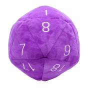 UP - Dice - Jumbo D20 Novelty Dice Plush in Purple with White Numbering