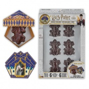 Harry Potter - Chocolate Frog Mold + 6 papers box + 6 Wizard Cards