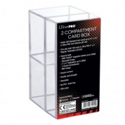 UP - 2-Piece Clear Card Box Two Compartment