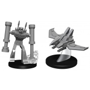 Transformers Deep Cuts Unpainted Miniatures - Laserbeak and Frenzy (4 Units)
