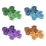 The Everrain: 4 player dice bundle (colour coordinated dice sets for each player)