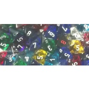 Chessex Translucent Bags of 50 Dice - Bag of 50: Translucent d8